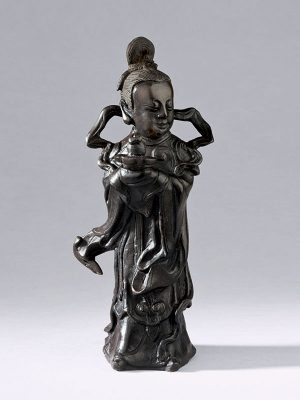 Bronze figure of a female immortal, <em>Magu</em>