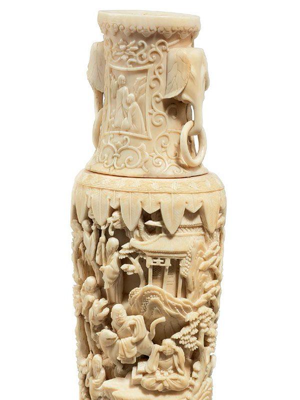 Ivory vase