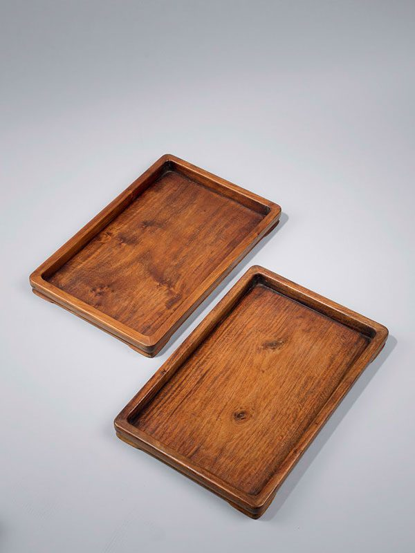 Three huanghuali trays