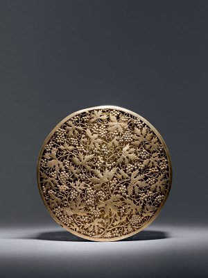 Silver gilt box with openwork design