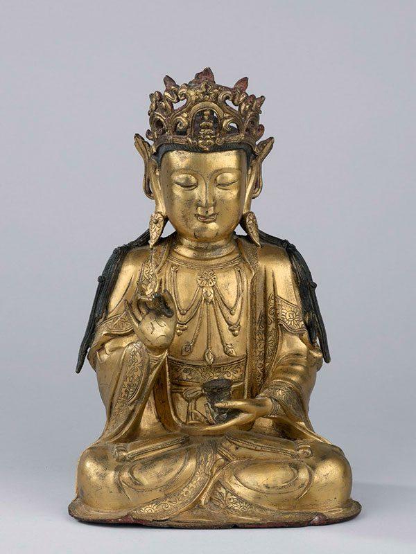 Giltbronze bodhisattva Guanyin