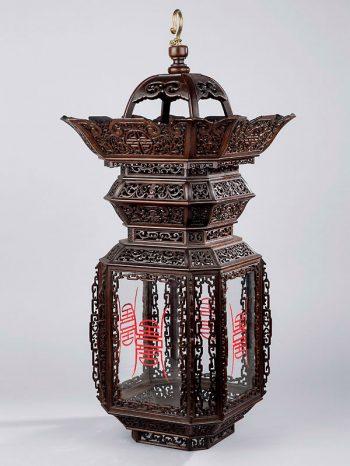 Hardwood lantern