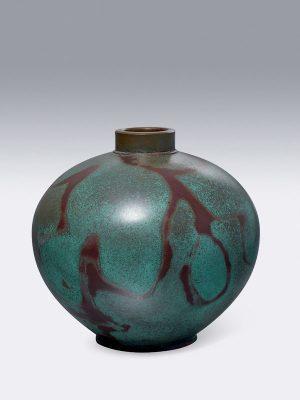 Bronze vase by Hannya Kankei