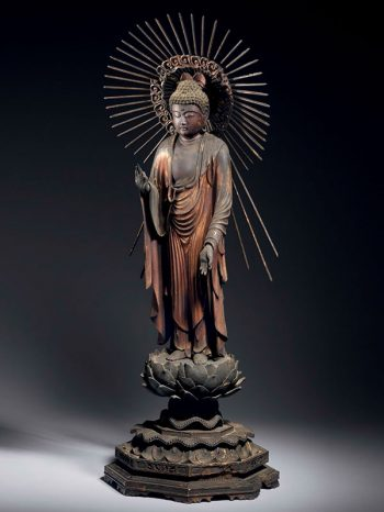 Gilded wood figure of the Buddha Amida Nyorai