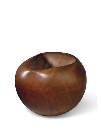 Wood bowl of spherical form