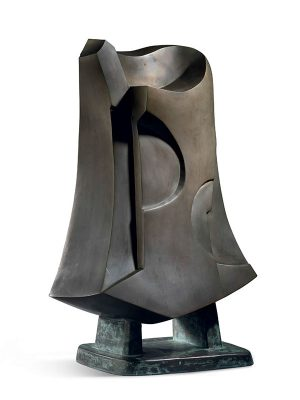 Bronze abstract sculpture