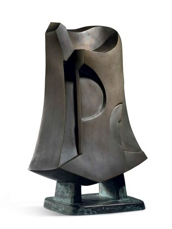 Bronze abstract sculpture