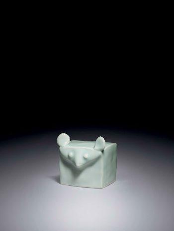Porcelain mouse by Suzuki Osamu
