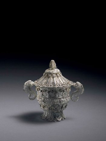 Silver filigree container