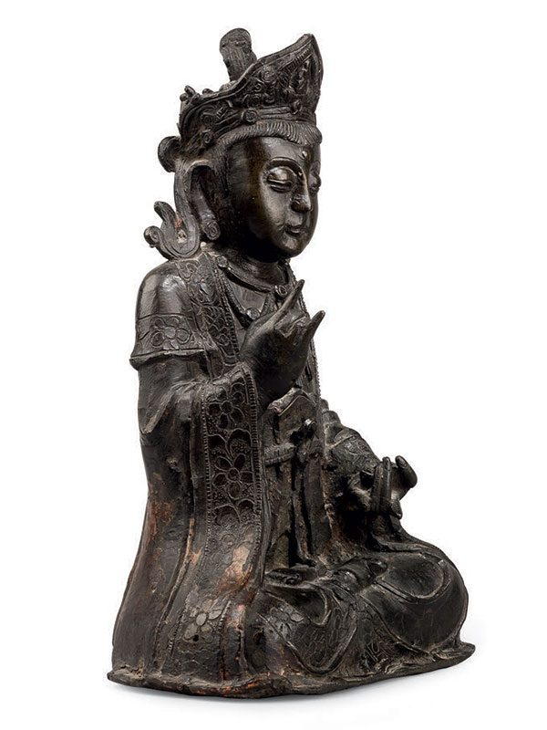 Bronze figure of bodhisattva Guanyin