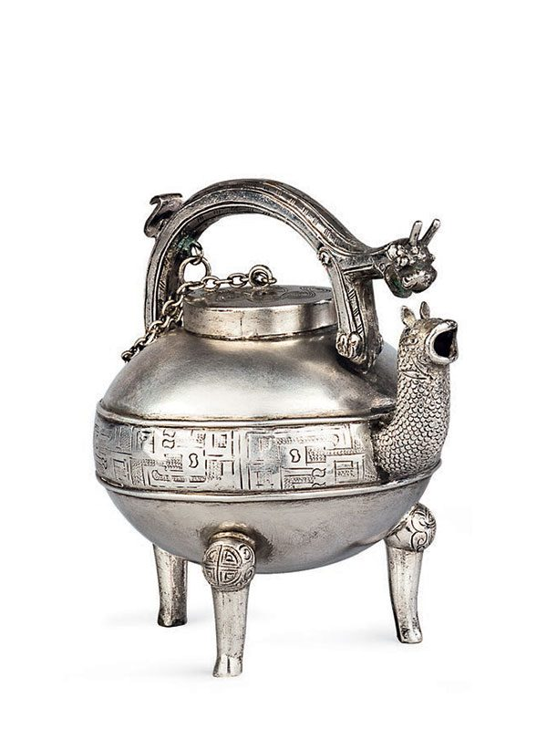 Silver miniature vessel, he
