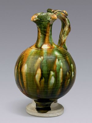 Pottery <em>sancai</em> miniature ewer