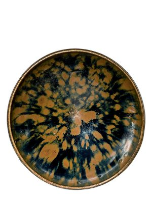 <em>Cizhou</em>-type stoneware bowl with 'partridge feather' glaze