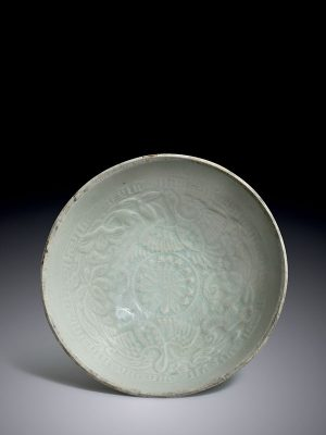 <em>Qingbai</em> porcelain bowl with wild geese