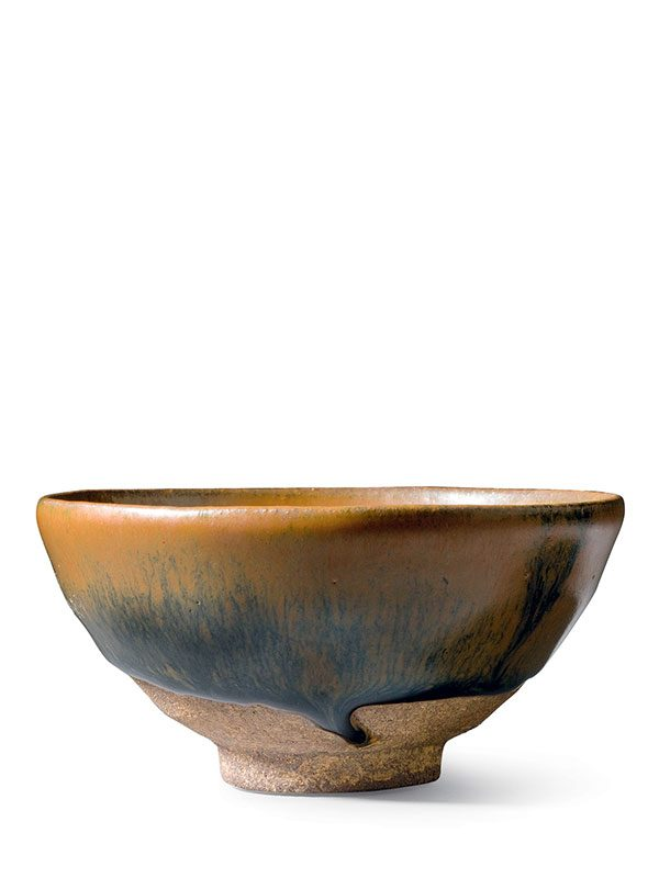 Jian stoneware bowl with 'hare's fur' glaze