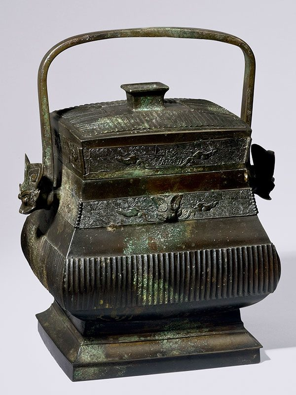 Bronze vessel of archaic form fang you