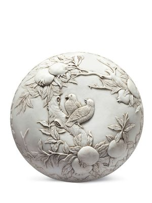 Carved <em>biscuit</em> porcelain box