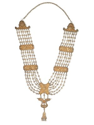 Silver gilt wedding necklace