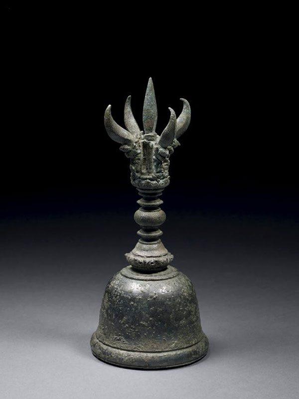 Bronze vajraghanta hand bell