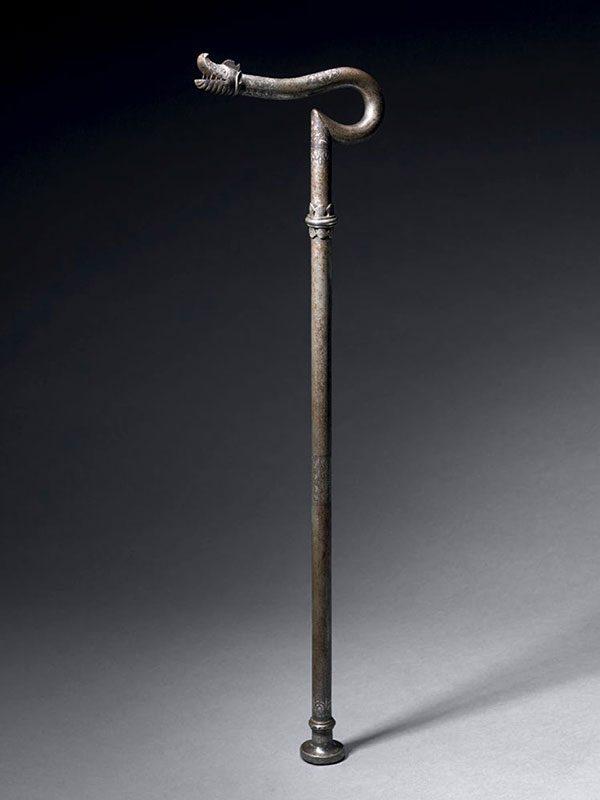 Steel dervish crutch (Zadar Takiyah)