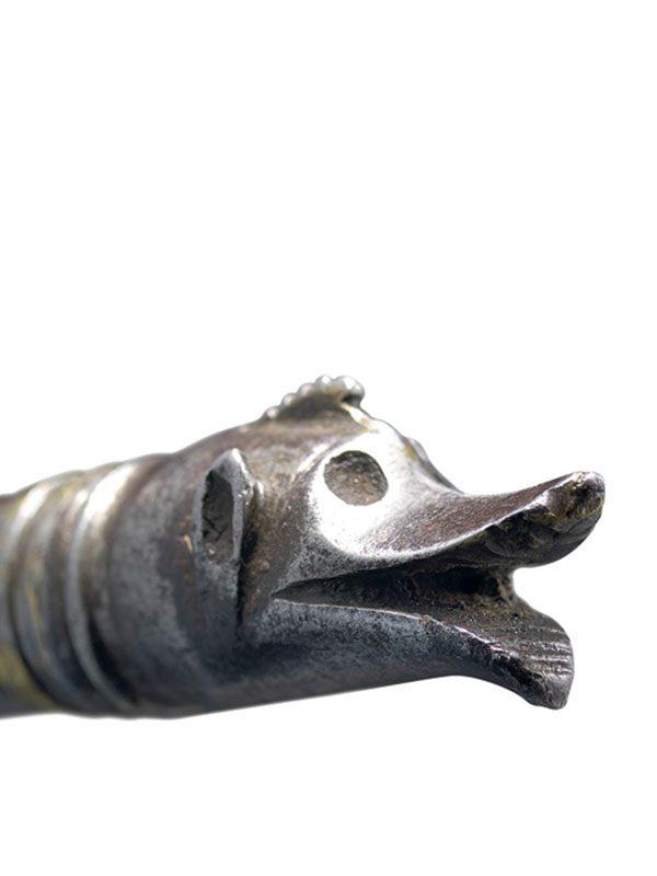 Steel dervish crutch (Zadar Takiyah gupti)