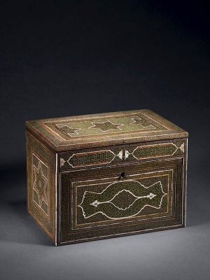 Micro-mosaic (khatamkari) and bone-veneered cabinet