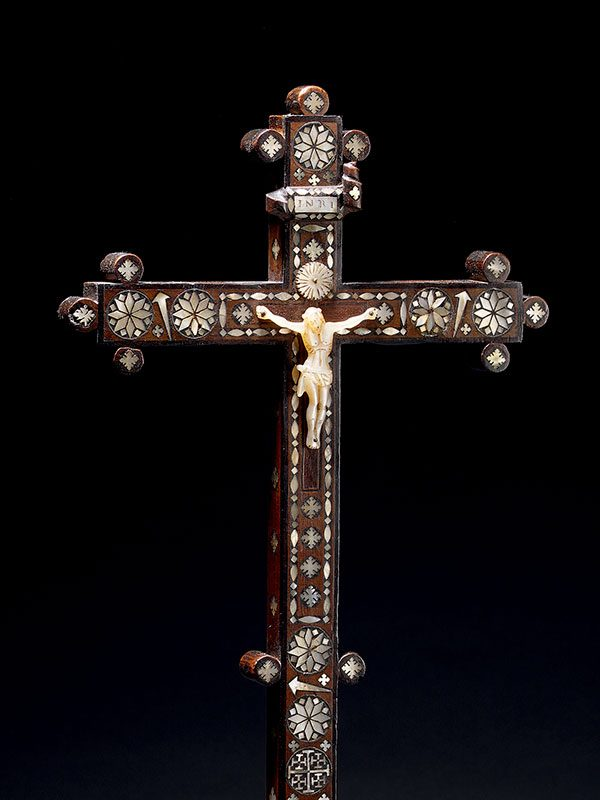 Devotional inlaid crucifix