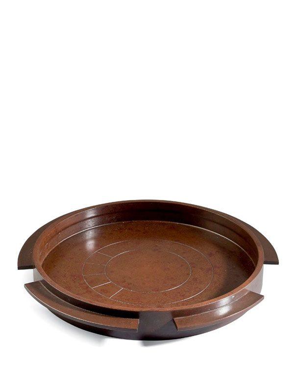 Bronze Dish By Hasudo Shugoro (1915-2010)