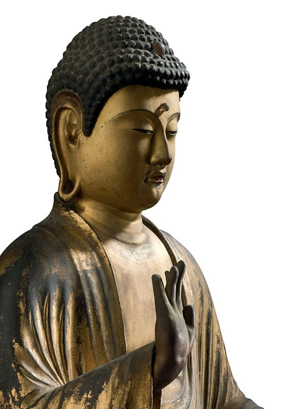 Gilded Wood Figure Of The Buddha Of Healing