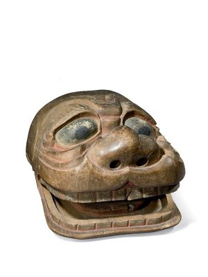 Wood Mask For Shishi-Mai Festival Dance