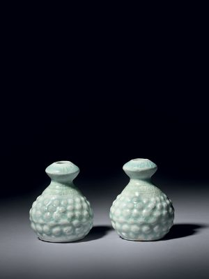Two miniature qingbai porcelain vases
