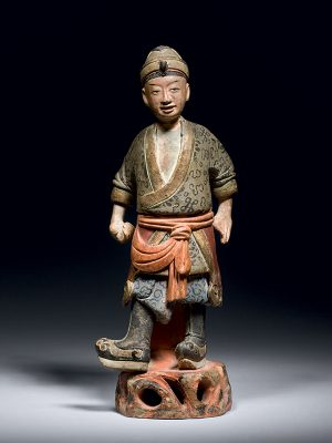 Pottery figure of a soldier