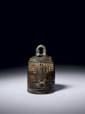 Bronze bell­-shaped incense burner