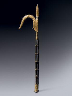 Koftgari elephant goad, Ankusa