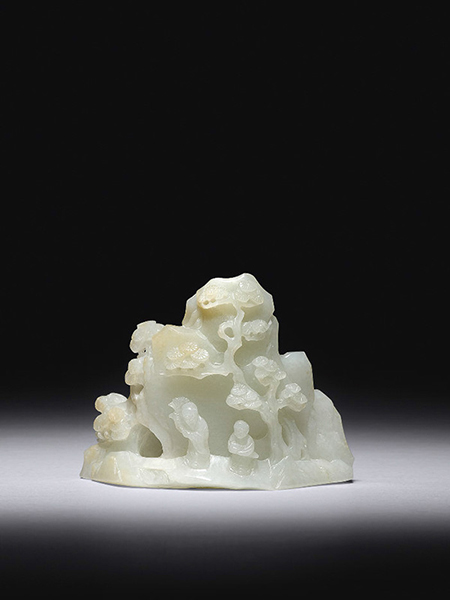 Jade miniature mountain