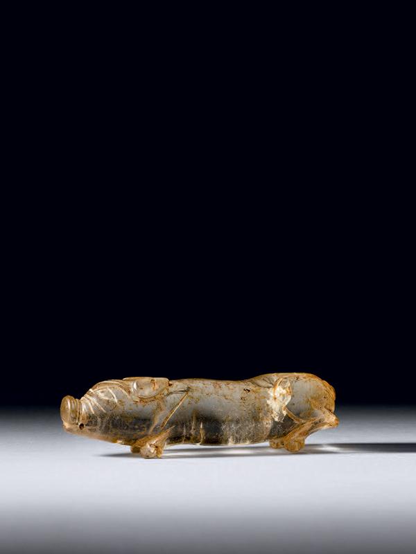 Rock crystal pig