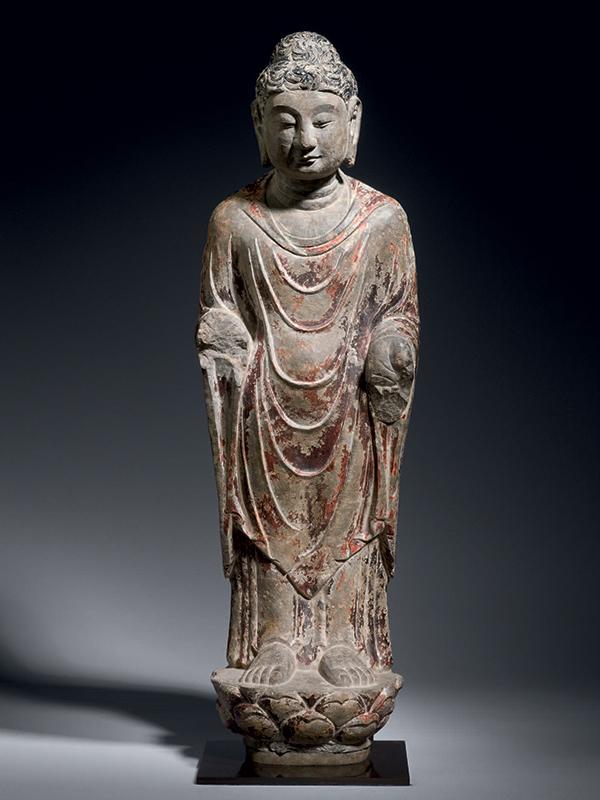 Limestone Sculpture of the Buddha