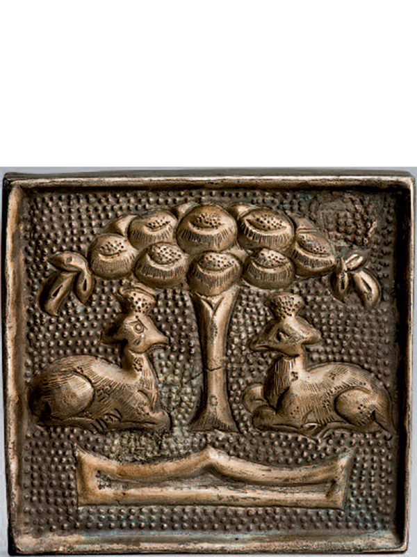 Silver and partially gilded belt plaque