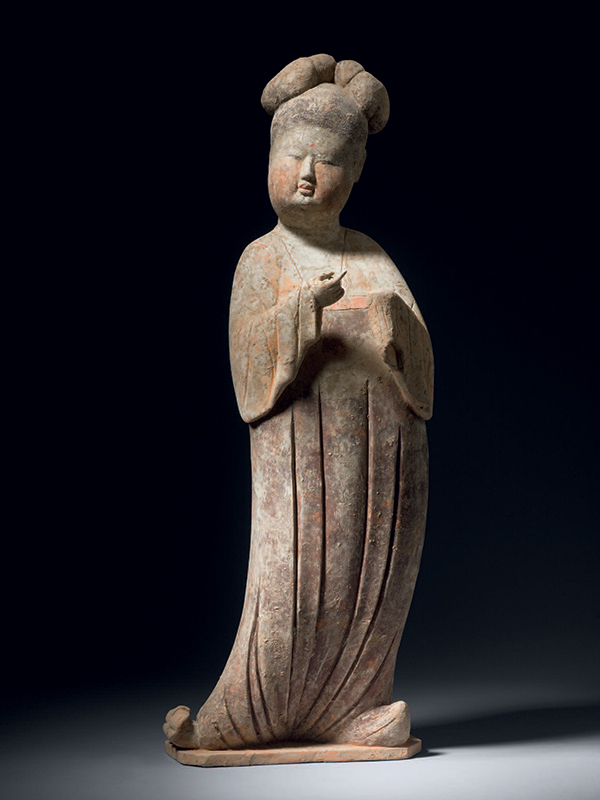 Pottery figure of a court lady