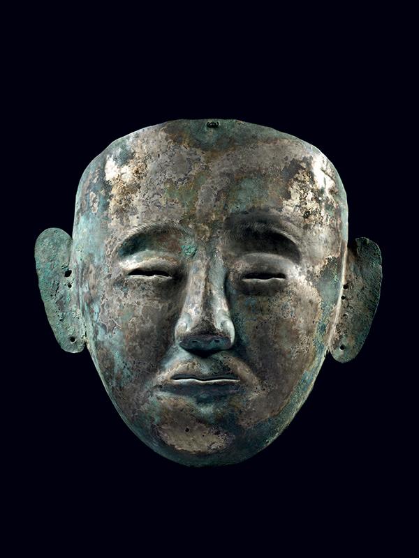 Silver gilt funerary mask
