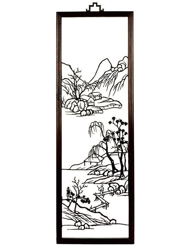 Four iron paintings, tiehua
