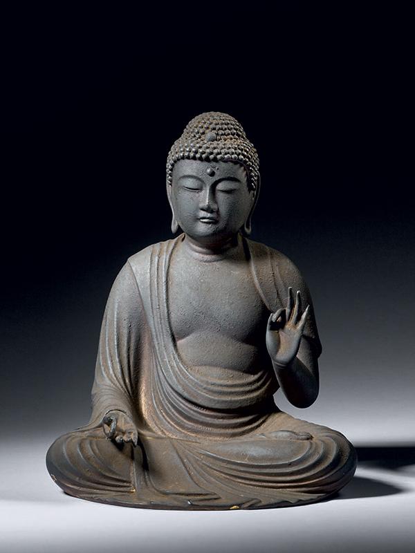 Wood sculpture of the Buddha Amida Nyorai