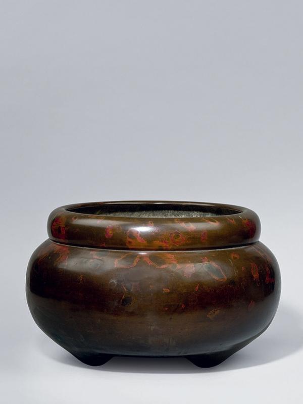 Bronze hibachi by Nishimura Dōya active c. 1678 - 1730
