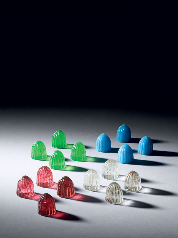 Glass Parchesi game set