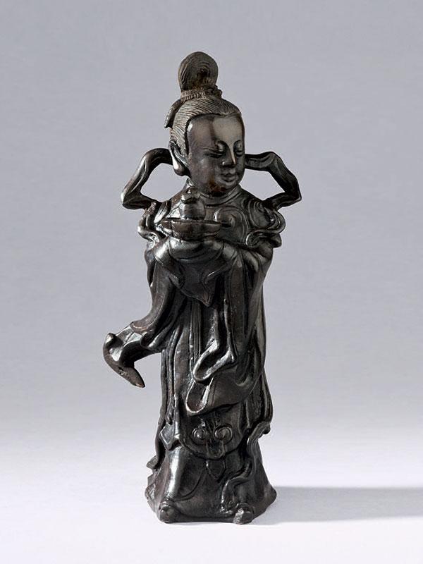 Bronze figure of a female immortal, <em>Magu</em>