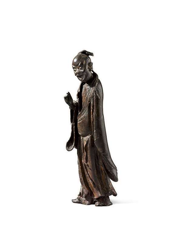 Bronze figure of a male immortal