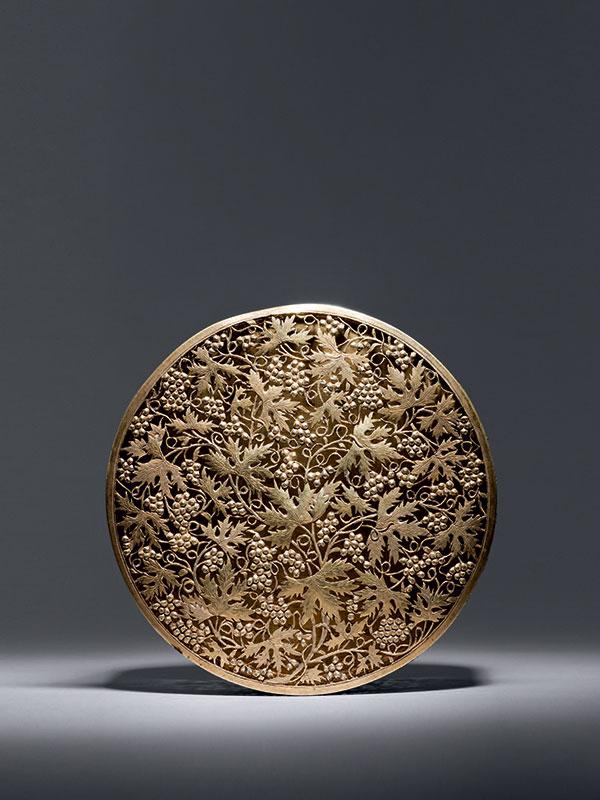 Silver gilt box with openwork design