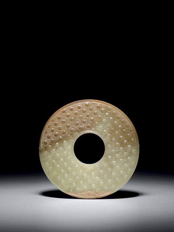 Jade <em>bi</em> disc with grain pattern