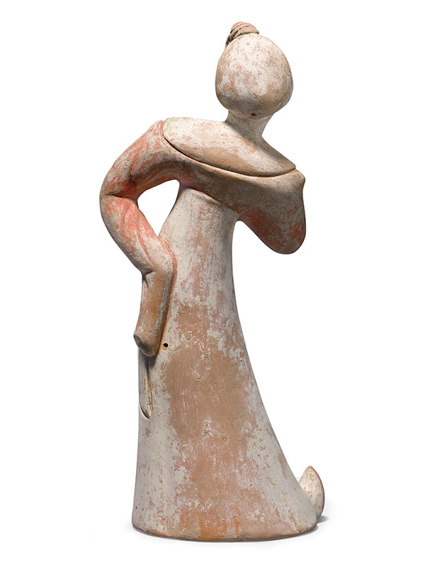 Pottery figure of a dancer
