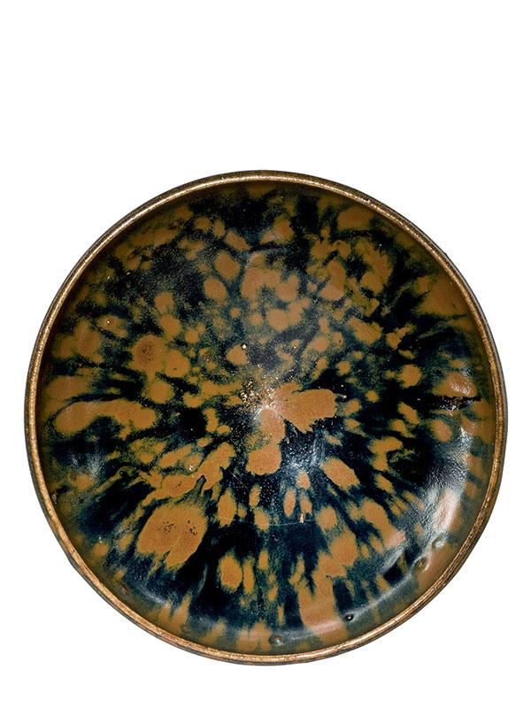 <em>Cizhou</em>-type stoneware bowl with 'partridge feather' glaze